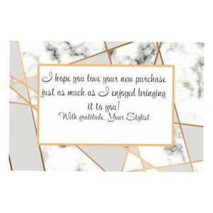 20 4x6 Marble thank you cards